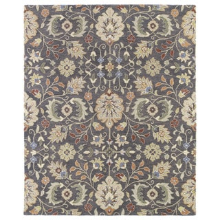Christopher Kashan Charcoal Hand-tufted Rug (5'0 x 7'9)