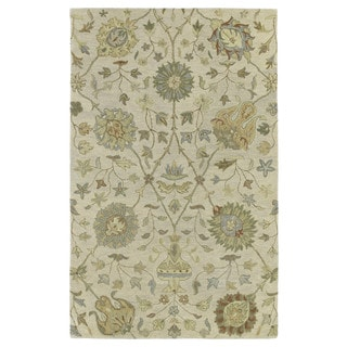 Christopher Kashan Sand Hand-tufted Rug (8'0 x 10'0)