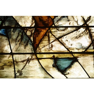 'Smudged Stained Glass' Modern Abstract Canvas Print Wall Art