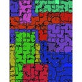'Puzzle Textured' Modern Abstract Canvas Print Wall Art