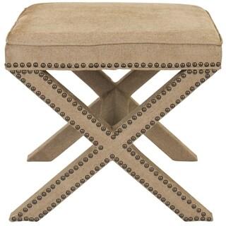 Safavieh Palmer X-bench Nailhead Bronze Ottoman