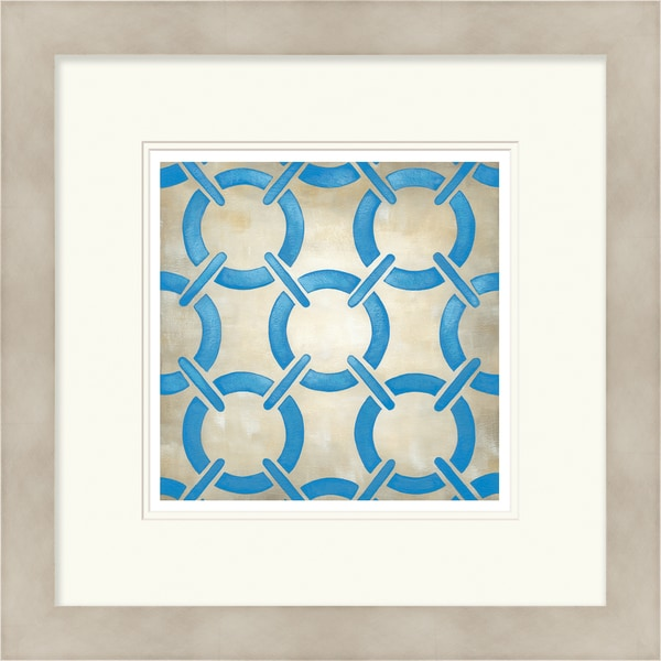 Chariklia Zarris 'Symmetry' Limited Edition Blue Giclee Print