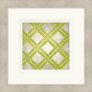 Chariklia Zarris 'Symmetry' Limited Edition Light Green Giclee Print