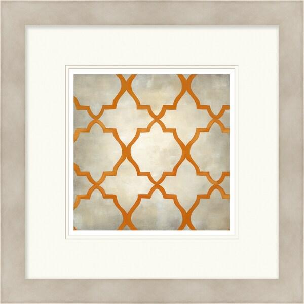 Chariklia Zarris 'Symmetry' Limited Edition Orange Giclee Print