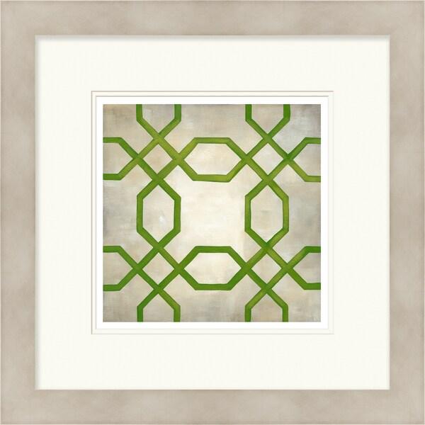 Chariklia Zarris 'Symmetry' Limited Edition Green Giclee Print