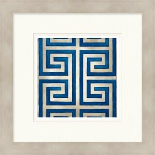 Chariklia Zarris 'Symmetry' Limited Edition Dark Blue Giclee Print
