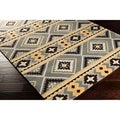 Hand-tufted Cadman Southwest-inspired Geometric Dove Grey Wool Rug (8' x 11')