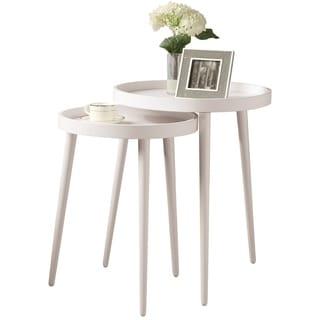 White 2-piece Nesting Table Set