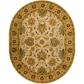 Hand-tufted Caley Classic Floral Wool Rug (8' x 10' Oval)