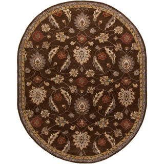 Hand-tufted Calisto Traditional Floral Wool Rug (8' x 10' Oval)