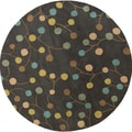 Hand-tufted Cain Transitional Floral Wool Rug (8' Round)