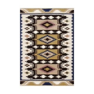 Alliyah Handmade Dried Tobacco New Zealand Blend Wool Rug (5' x 8')