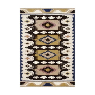 ZnZ Rug Gallery Hand-made Dried Tobacco Wool Rug (8' x 10')