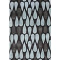 ZnZ Rug Gallery Hand-made Black Olive Wool Rug (5' x 8')