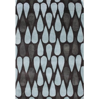 Alliyah Handmade Black Olive New Zealand Blend Wool Rug (8' x 10')