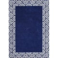 ZnZ Rug Gallery Hand-made Patriot Blue Wool Rug (5' x 8')