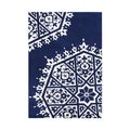 ZnZ Rug Gallery Handmade Patriot-blue Wool Area Rug (5' x 8')