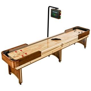 Napa 12-foot Shuffleboard Table with Overhead Electronic Scoring