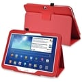 BasAcc Red Leather Case with Stand for Samsung� Galaxy Tab 3 10.1