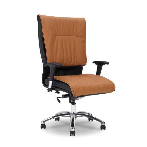 Ergocraft Saddle All Leather High Back Chair/ Knee Tilt Control