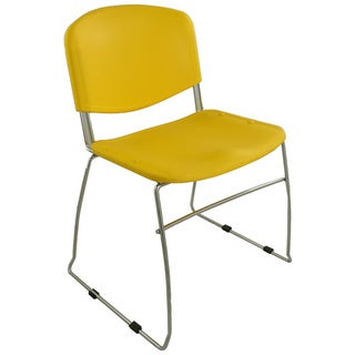 Ergocraft Yellow DOT Stacking Chairs (Pack of 4)