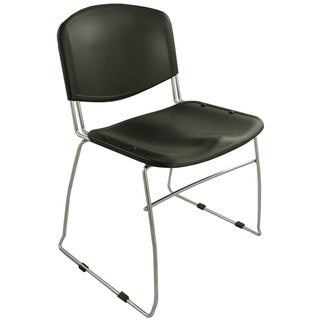 Ergocraft Black DOT Stacking Chairs (Pack of 4)