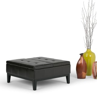 Lancaster Square Coffee Table Ottoman and Split-lift Lid