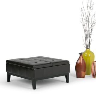 WYNDENHALL Lancaster 36 inch Wide Contemporary Square Table Ottoman