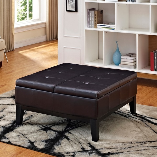 Wyndenhall Lancaster Square Coffee Table Ottoman And Split