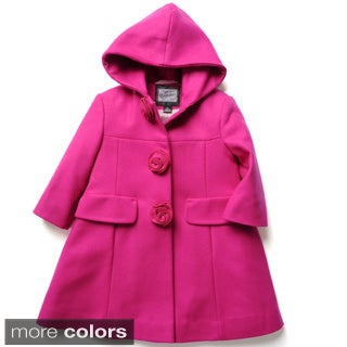 Rothschild Girl's Rosette A-line Dress Coat