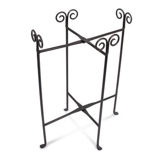 Oval Tub Black Iron Floor Stand