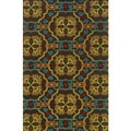 Indoor/ Outdoor Brown/ Multicolored Polypropylene Area Rug (6'7 x 9'6)