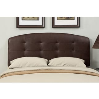 Brown Leather Full/ Queen-size Tufted Headboard
