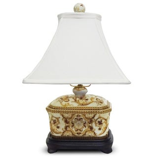 Gold Tapestries Porcelain Cover Box Lamp