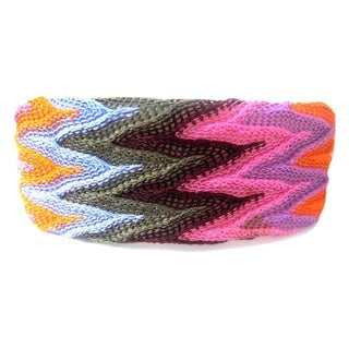Crawford Corner Shop Zig-Zag Orange Blue Multi Barrette