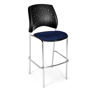 OFM 338C Chrome Stars Series Navy Cafe Chair (Pack of 2)