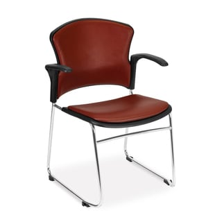 OFM Red/Black Multi-Purpose Stackable Chairs with Arms (Set of 4) 310-VAM-A-603