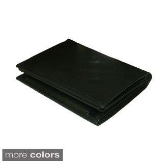Hollywood Tag Black Leather Bi-fold Wallet