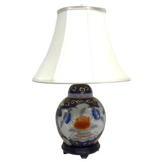 Imari Cover Jar Porcelain 1-light Gold Table Lamp