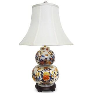 Imari Double Gourd Porcelain Lamp