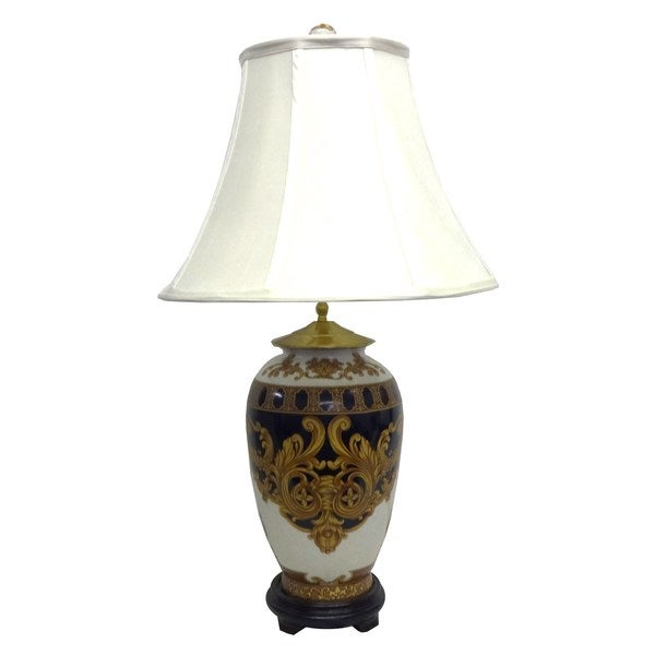 Versace Design Round Jar 1-light Gold Table Lamp