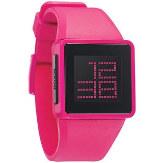 Nixon Men's 'Newton' Pink Digital Watch
