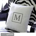 Personalized Square Initial Throw Pillow