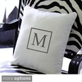 Personalized Square Initial 12-inch Throw Pillow