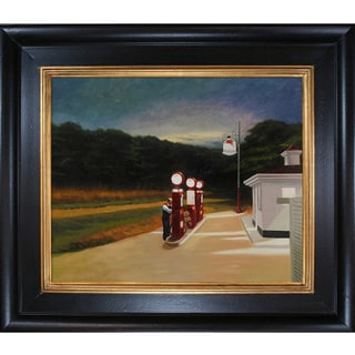 Edward Hopper 'Gas, 1940' Hand Painted Framed Canvas Art