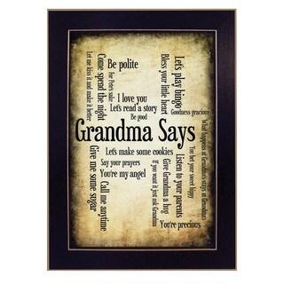 'Grandma Says' Framed Wall Art