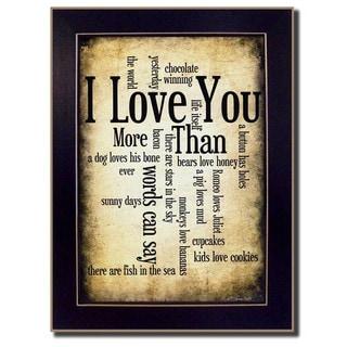 Susan Ball 'I Love You' Framed Wall Art