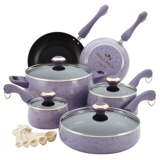 Paula Deen Lavender 15-piece Signature Porcelain Cookware Set