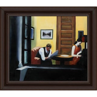 Edward Hopper 'Room in New York' Hand Painted Framed Canvas Art