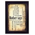 """Mother Says"" Framed Wall Art"